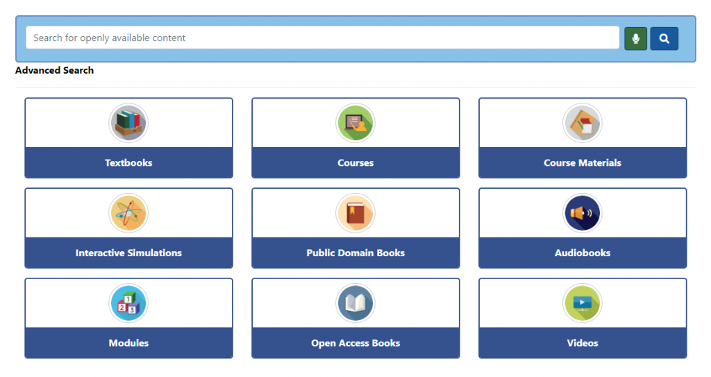 A screenshot of the SUNY OASIS Search interface.