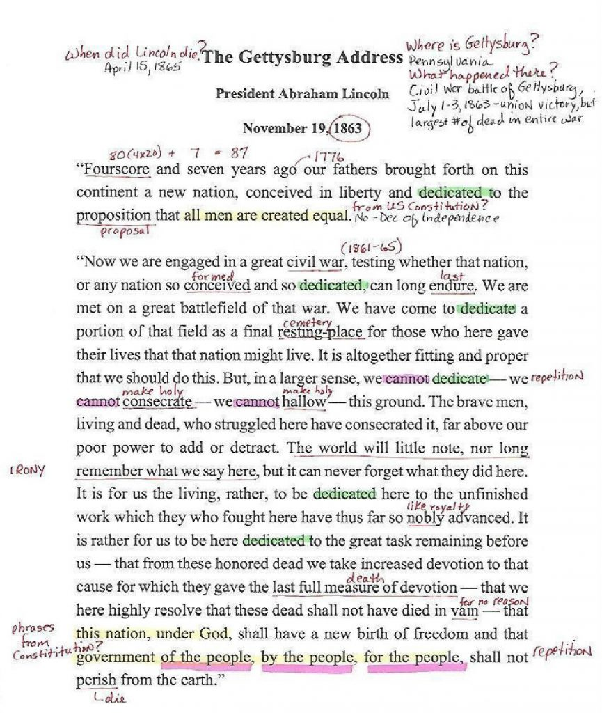 Annotated document