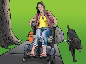 Trish has a physical disability. She prefers ebook formats and print.