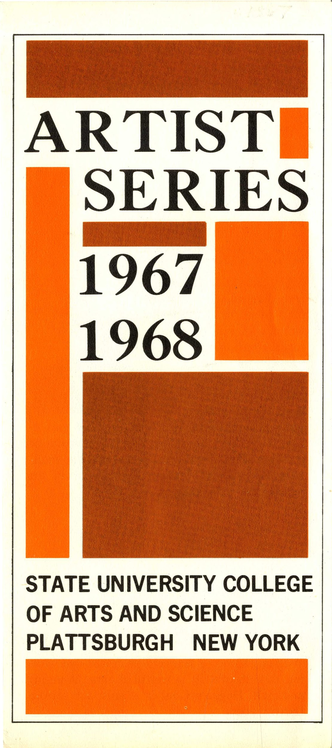 Artist Series 1967-1968. State University College of Arts and Science, Plattsburgh, New York